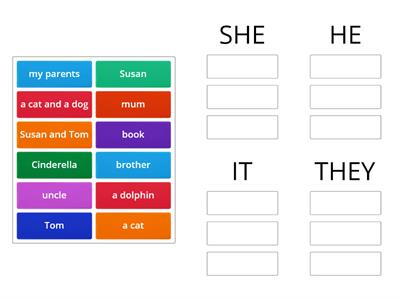 SUBJECT PERSONAL PRONOUNS