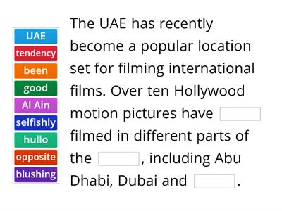 Hollywood Films in the UAE