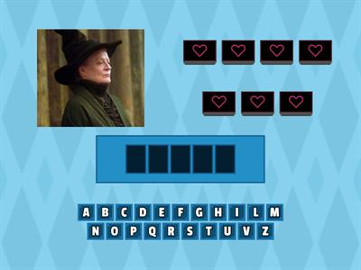 Copy of Personality hangman with Harry Potter