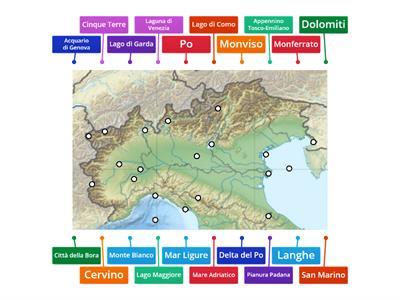 Cartina Muta Regioni Italia Settentrionale.Regioni Nord Italia Verifica Risorse Per L Insegnamento