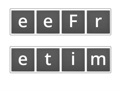 Free time Anagram