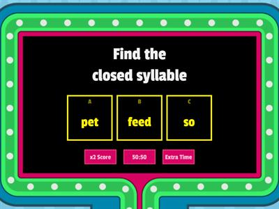 Closed Syllable Wilson 2.1