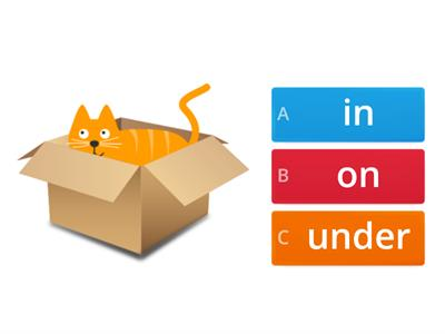 In/on/under + cats