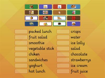 Tiger 3 - Unit 4 - Food We Like - Vocabulary