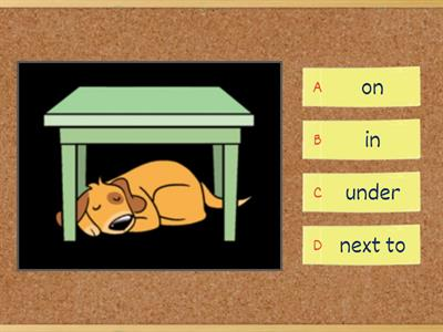 Kid's Box Prepositions of place