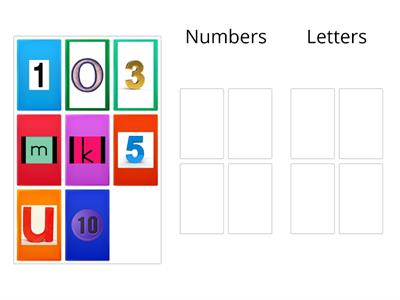 Writing 6.1 - Can I separate letters and numbers into different groups? (2)