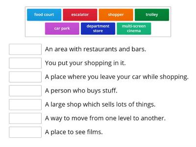 shopping centres - definitions U7.3