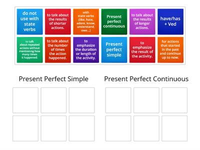 B1 grammar class 6 present perfect simple or cont