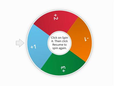 Reading Fluency Game Spinner