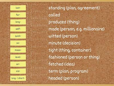 Compound adjectives (advanced)