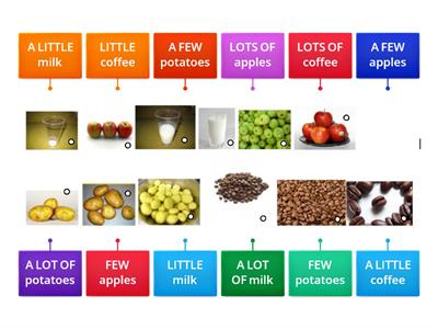Quantifiers: (a) little, (a) few, a lot of/lots of