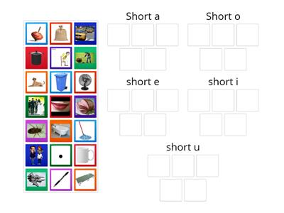 Short a and Short o Picture Sort