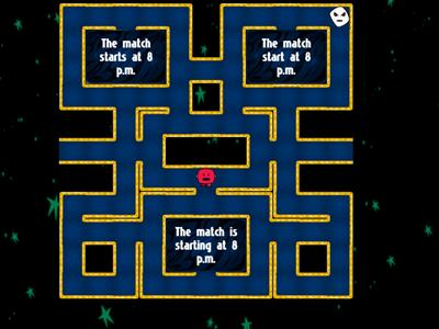 Present Simple Maze Chase Game
