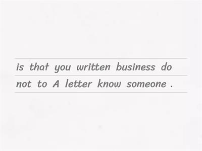 Business and Friendly Letters