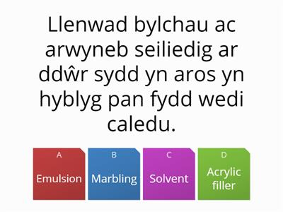 Peintio Ac Ardduno, Welsh Description, Select English Term