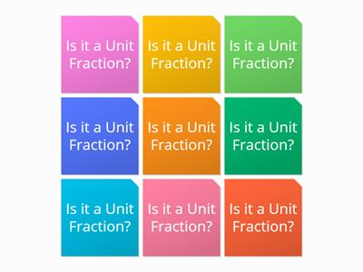 WW Recognise A unit Fraction