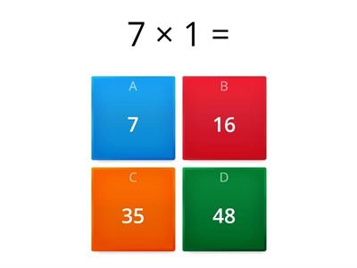 Times tables x7 Quiz