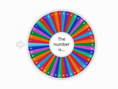 Copy of Number Wheel 1-61
