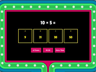 Multiplication Gameshow