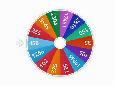 Editable Random Number Wheel to 1000