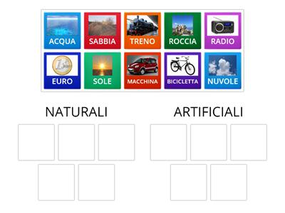 ESSERI NON VIVENTI NATURALI O ARTIFICIALI