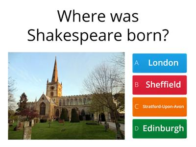 Shakespeare Quiz: Years 7 & 8
