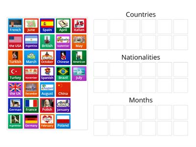 GoGetter2 Intro Countries Nationalities Months