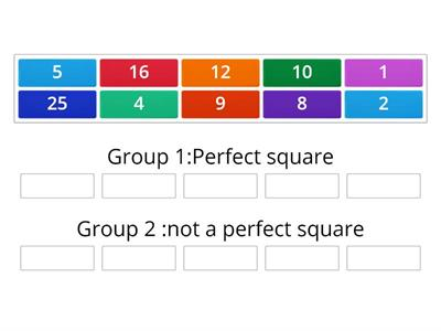 Grouping Perfect square