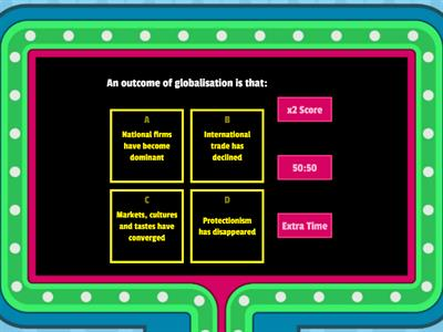 Theme 4 Globalisation Quiz 1