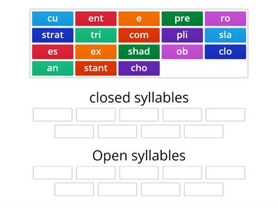 Open and closed syllable sorting