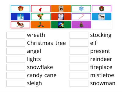 Christmas Vocabulary for kids
