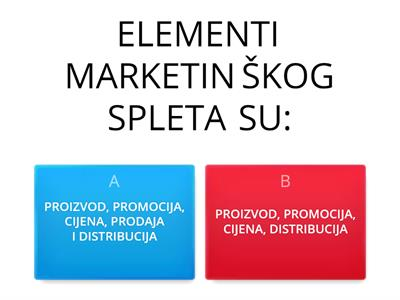3. UPRAVLJANJE ELEMENTIMA MARKETINŠKOG SPLETA