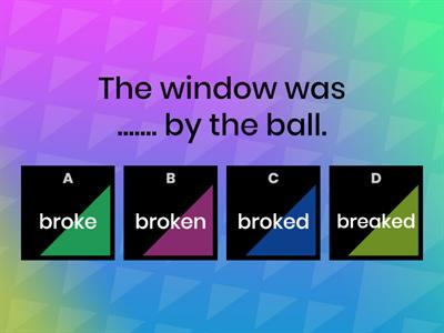 Pick the correct word or words to complete the sentences