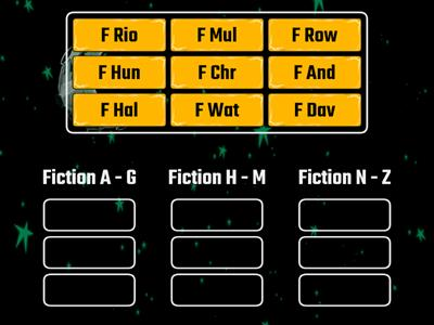 Fiction Call Numbers - sort call labels into alphabetical order