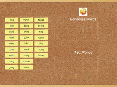 2.1 Real Words/Nonsense Words Sort