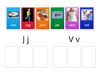 J-V sort/ simple worksheet