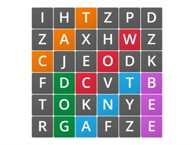 Power Memory Word Search (8pairs)