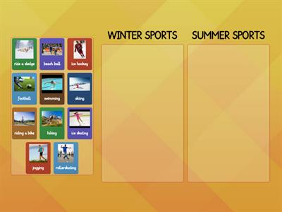 Winter and summer sports