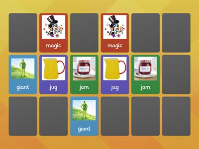 alternative j sounds matching pairs game j/ ge/ g/ dge