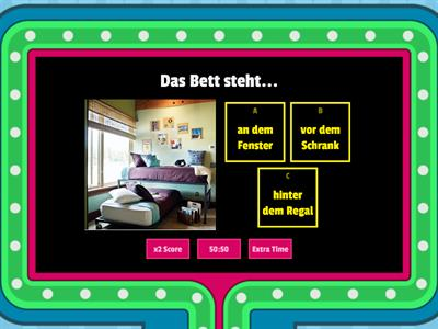 Mein Zimmer - prepositions with dative