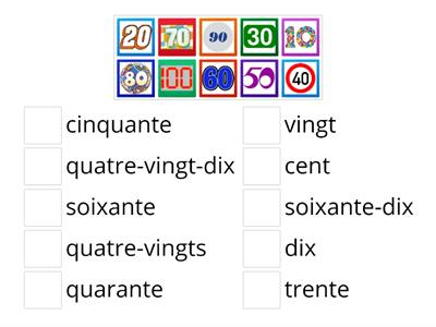 Match multples of 10 in French