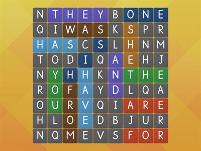 Fundations K Trick Words