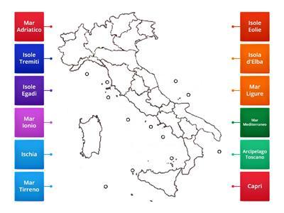 Cartina Muta Italia Per Verifica.Mari E Isole Italia Risorse Per L Insegnamento