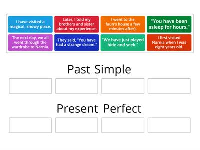 Group sort - Present Perfect