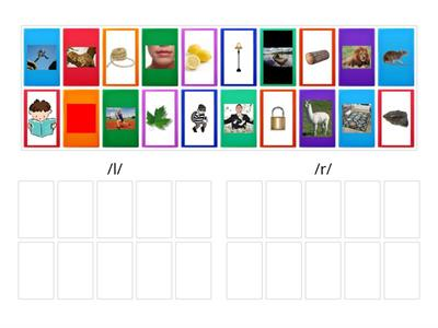 FIS lesson 9  /l/ & /r/ sort