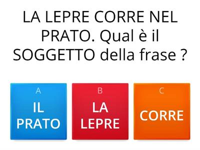 Copy of SOGGETTO E PREDICATO VERBALE