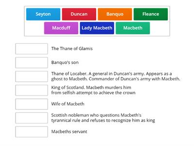 Macbeth (using match up)
