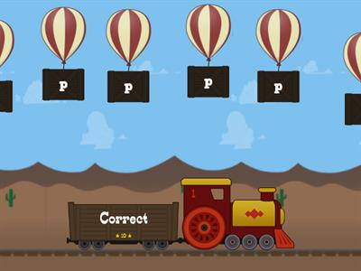 The p Balloon Drop p/q/b    Click the p