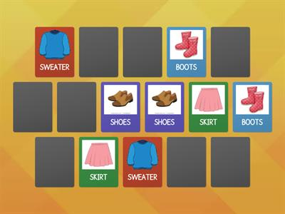 K4 - CLOTHES: Find the pairs!
