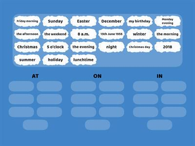 82 Prepositions of Time (at/on/in) 2